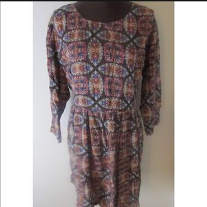 Simply Be Tie Back Long Sleeve Dress Size 22